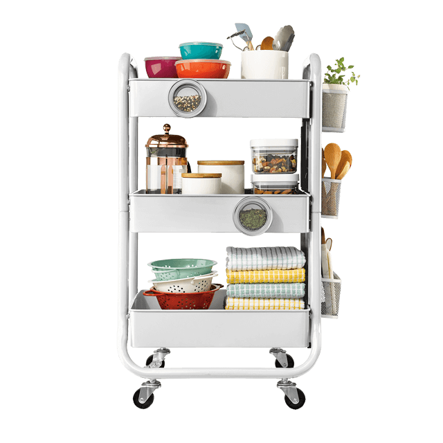 Eureka Ergonomic 3-Tier Metal Rolling Storage Cart