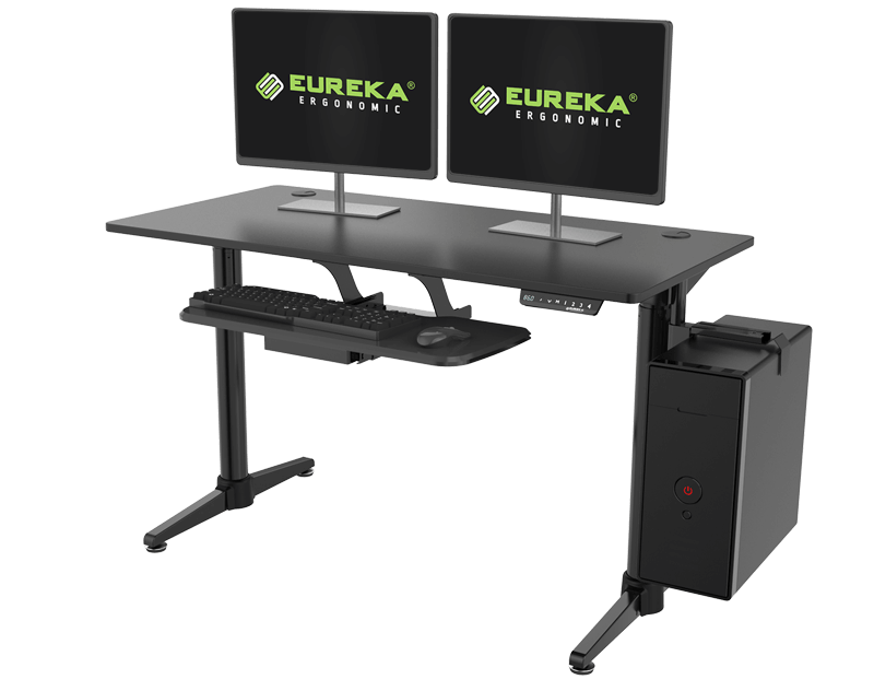 Electric Height Adjustable Desk - Black