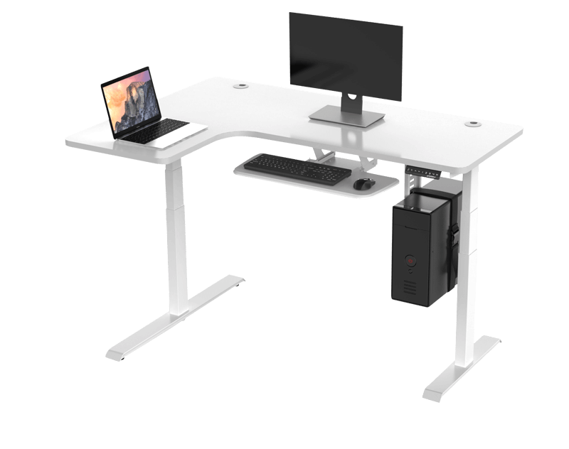 Eureka Standing Desks L Shape Left White