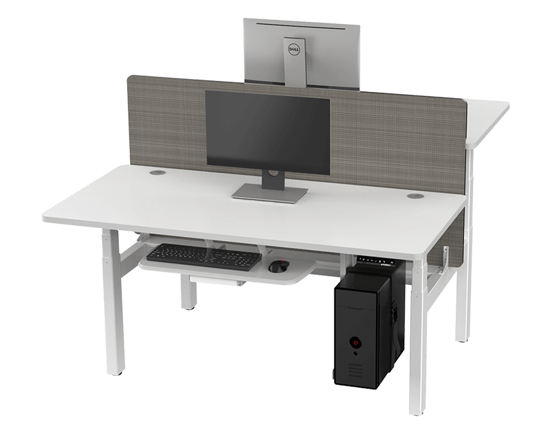 Eureka Standing Desks L Shape Right White