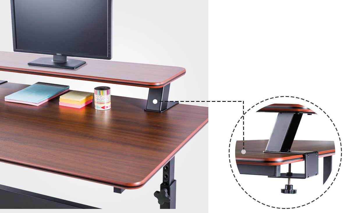 Height Adjustable Mobile Desk 40 Quot Teak Wood Free