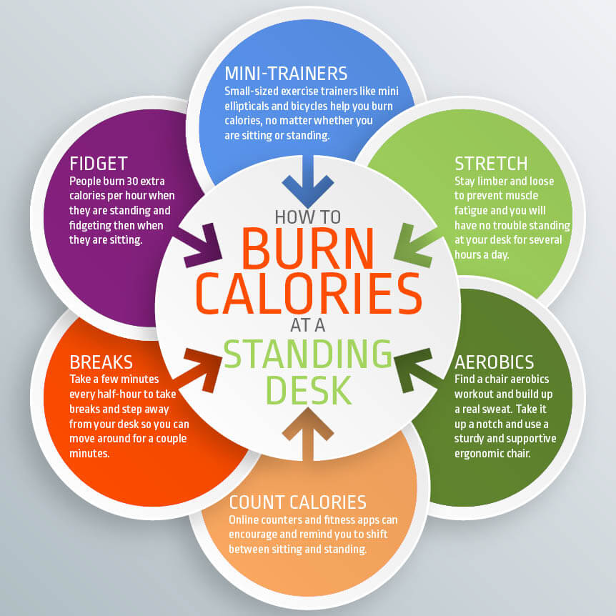 How Many Calories Are Burned With Standing Desks Eureka Ergonomic