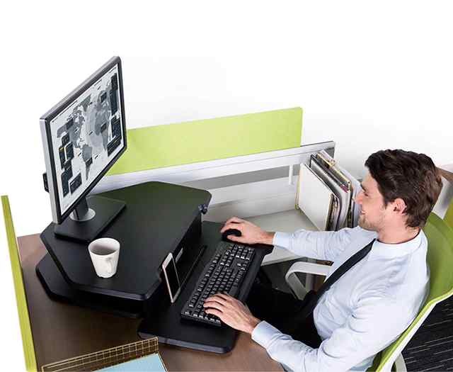 Eureka Ergonomic® Sit-Stand Desk 28 Cherry